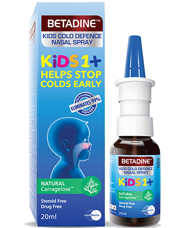 BETADINE Kids Cold Defence Nasal Spray Bottle with Box Thumbnail Image