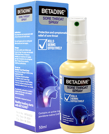 BETADINE Sore Throat Spray Bottle with Box Thumbnail Image