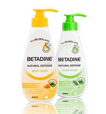 BETADINE Natural Defense Body Wash