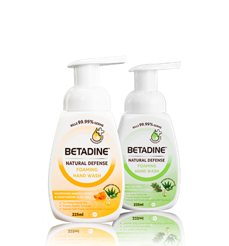 BETADINE Natural Defense Foaming Hand Wash